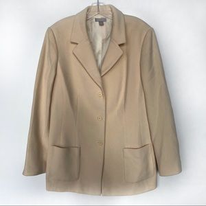 Nordstrom Wool Cashmere Women Coat Blazer Size 12